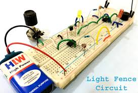 Automatic Light Fence Circuit Diagram With Alarm