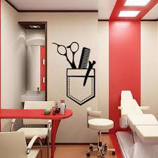 Barber Shop Wall Decal Hair Salon Art Wall Sticker Window Decoration Pattern Tools Sciccors Self Adhesive Removable B231 Wall Stickers Aliexpress