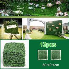 12pcs 40 60cm Artificial Boxwood Hedges Panels Privacy Synthetic Balcony Fencing Ivy Fence Wall Home Garden Outdoor Decoration Artificial Plants Aliexpress