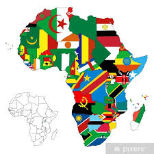 Africa Continent Flag Map Wall Mural Pixers We Live To Change
