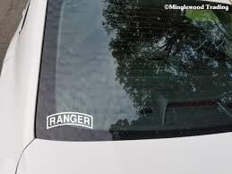 Army Ranger Tab 5 X 2 White Vinyl Decal Sticker 75th Regiment Us Rangers Minglewood Trading