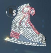 Ice Skate In Rhinestones Car Window Decal Rhinestone Supply