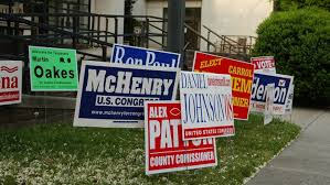 Image result for political signs in yards