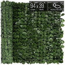 Uland Artificial Greenery Hedegs Panels 1pc 40x40 Garden Fence Panels Ivy Plant Wall Cover Decorative Fences