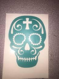 Sugar Skull Decal Sugar Skull Skull Car Decal Window Etsy