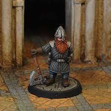 fa34 dwarf ranger in leather armour