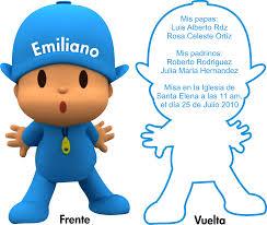 Invitaciones Para Fiestas Infantiles De Pocoyo Imagui