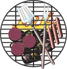 Cool Summer Bbq Barbeque Burgers And Hotdogs Grill Cartoon Vinyl Stick Shinobi Stickers