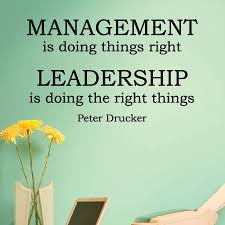 Management V Leadership Wall Quotes Decal Wallquotes Com