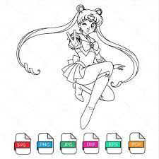 Sailor Moon Outline Svg Sailor Moon Clipart