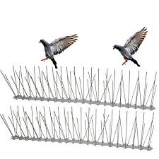 Cat Fence Outdoor Planted Perfect Stainless Steel Bird Spikes Durable Pigeon Repellent Great Deterrent For Birds Pigeon Repellent Cat Repellant Cat Fence