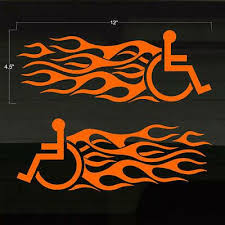 This Is A Set Of 2 Wheelchair Fast Flaming Style Vinyl Decals The Decals Are Made In Quality Oracal 651 Series 6 Ye In 2020 Decals Stickers Vinyl Decals Wheelchair