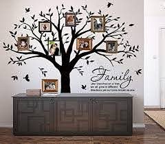 Amazon Com Family Tree Wall Decal Quote Family Like Branches On A Tree Lettering Tree Wall Sticker For Bedroom Decoration Black Kitchen Dining