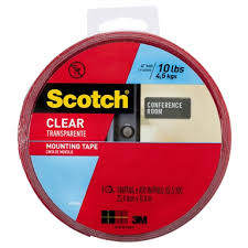 scotch 25mm x 11 4m clear double sided
