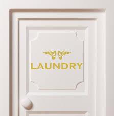 Gold Laundry Door Decal Laundry Sticker Removable Vinyl Door Etsy