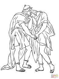 Vriendschap Tussen David En Jonathan Kleurplaat Gratis