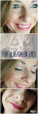 day makeup tutorial for blue green eyes