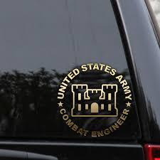 Us Army Combat Engineer Decal Sticker Veteran Car Truck Window Wall Laptop Veteran Car Us Army Retired Military