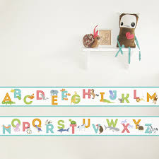 Animal Alphabet Wallpaper Border Removable Wall Border