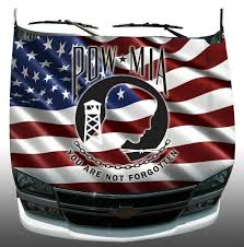 American Flag Pow Mia Hood Wrap Wraps Sticker Vinyl Decal Etsy