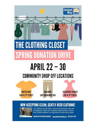 spring donation drive