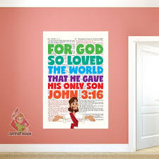 For God So Loved The World Wall Decal Creative For Kids