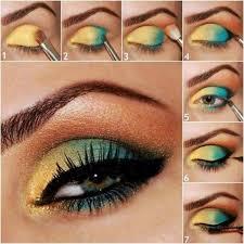 makeup tutorial using vibrant colors