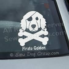 Pirate Golden Decal Sew Dog Crazy