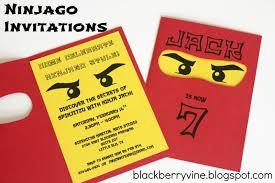 Lego Ninjago Party Invitation Ninja Party Invitations Lego