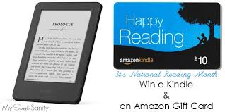 win a kindle plus an amazon gift