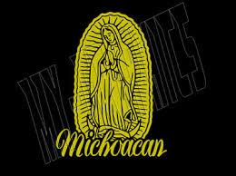 Virgen De Guadalupe W Roses Catholic Decal Car Window Vinyl Sticker Virgin Mary