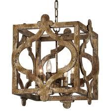 rustic square pendant antique farmhouse