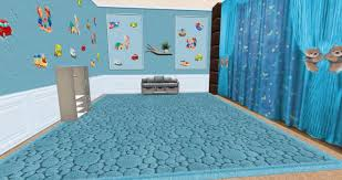 Second Life Marketplace Set Kids Room Blue Wallpapers 3 Species Curtain Carpet Box