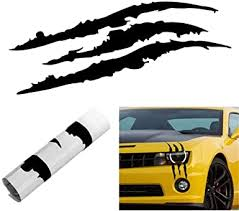Amazon Com Headlight Claw Scratch Mark Decal Universal Mustang Camaro Charger Challenger Clothing