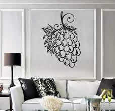 Kitchen Wall Vinyl Decal Tagged Wall Decal Grapes Wallstickers4you