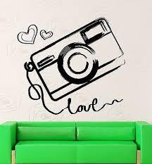 Wall Sticker Vinyl Decal Camera Photography Love Art Decor Unique Gift Ig2046 Vinyl Decals Love Photography Vinyl