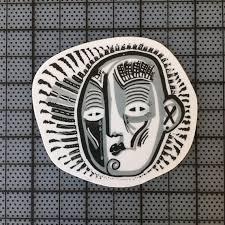 Black White Grey Sticker Thick Vinyl Decal Etsy