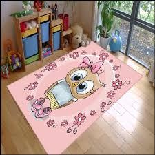 Else Pink Sweet Cute Owl Animal Baby Girls 3d Print Non Slip Microfiber Children Kids Room Decorative Area Rug Kids Mat Carpet Aliexpress