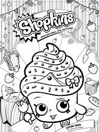 Kids N Fun Kleurplaat Shopkins Cupcake Queen