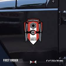 Tie Fighter First Order Star Wars Car Laptop Vinyl Sticker Decal Jeep Jdm