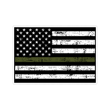 Thin Green Line Us American Flag Support Military Stressed Vinyl Car S Doggy Style Gifts