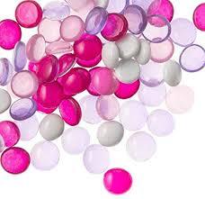 com glass fl vase gems pink