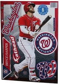 Amazon Com Mlb Washington Nationals Bryce Harper Fathead Teammate Wall Decal 8 X17 Everything Else