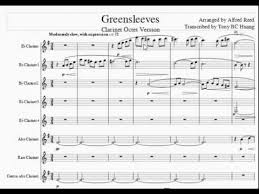 Alfred Reed Greensleeves cl8 - YouTube