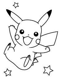 Pikachu Coloring Pages 4 Kleurplaten Pikachu Cartoon Schetsen