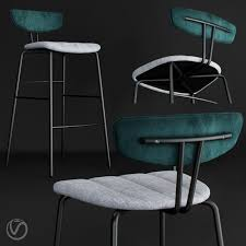 3D model THE CONTRACT CHAIR - AMY BARSTOOL