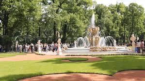 summer garden with a fountain 98