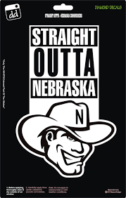 Straight Outta Nebraska Cornhuskers College Ncaa Football Logo Decal Vinyl Sticker Car Truck Window Laptop Ncaa Football Logos Nebraska Cornhuskers Cornhuskers