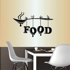 Amazon Com Wall Vinyl Decal Home Decor Art Sticker Food Word Sign Spoon Kitchen Restaurant Cafe Room Removable Stylish Mural Unique Design Home Kitchen