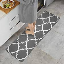 ustide kitchen runner rug gray
